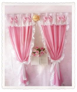 frilly curtains