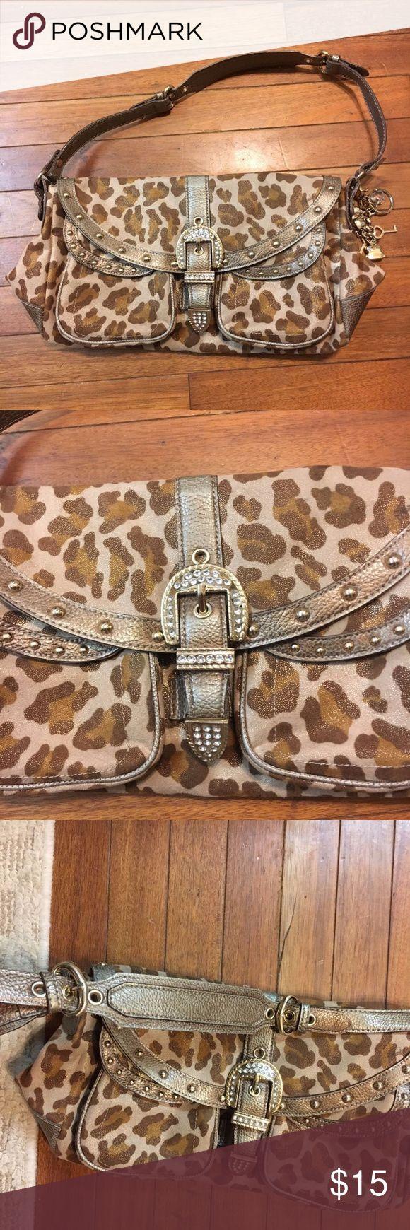 Kathy Van Zeeland Suede Leopard Purse Hand bag Pre Loved condition. Kathy Van Zeeland Bags Shoulder Bags