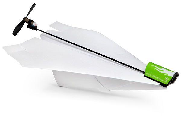 ThinkGeek :: Electric Paper Airplane Conversion Kit