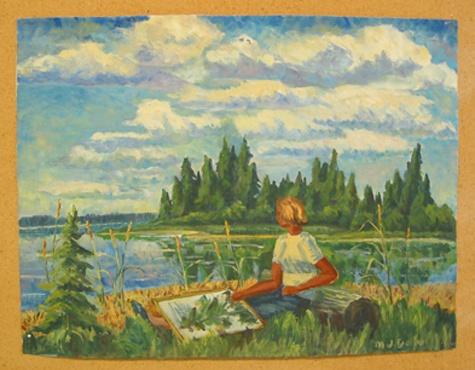 Emma Lake Painting - Joyce Deutscher,