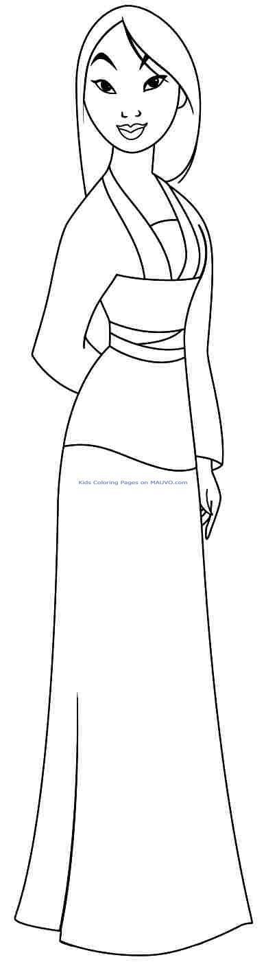 Coloriage princesse disney mulan                                                                                                                                                                                 Plus