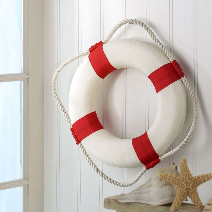 Red and White Life Preserver Ring