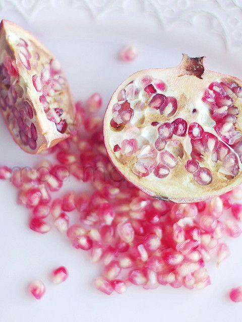 pomegranates are pink.