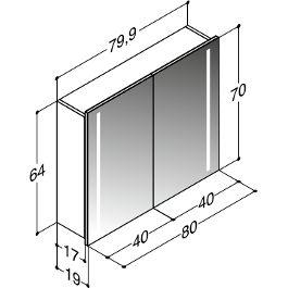 Scanbad Delta Spiegelschrank 80, Licht integriert, Eiche-Nachbildung Jetzt bestellen unter: moebel.ladendirek… #integriert #eichenachbildung #licht …