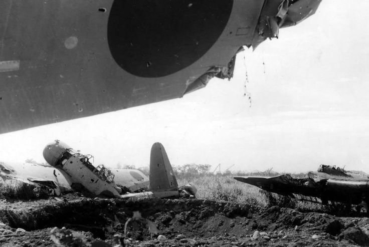 Japanese Aircraft Wrecks At Lae New Guinea C 1943