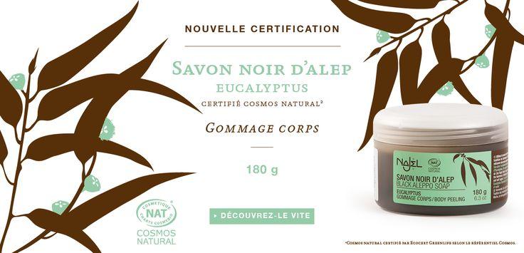 Nouveau ! Notre savon noir à l'huile essentielle d'Eucalyptus est désormais certifié COSMOS NATURAL* par Écocert ! Exfoliez votre corps avec le savon noir #Najel pour un gommage oriental dans la pure tradition du hammam.  Son plus : le pouvoir antiseptique et rafraîchissant de l'huile essentielle d'Eucalyptus. *COSMOS NATURAL certifié par Écocert Greenlife selon le référentiel COSMOS disponible sur http://cosmos.ecocert.com