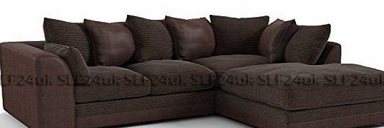 Smart Line Furniture Ltd. Porto Byron Jumbo Cord Corner Sofa