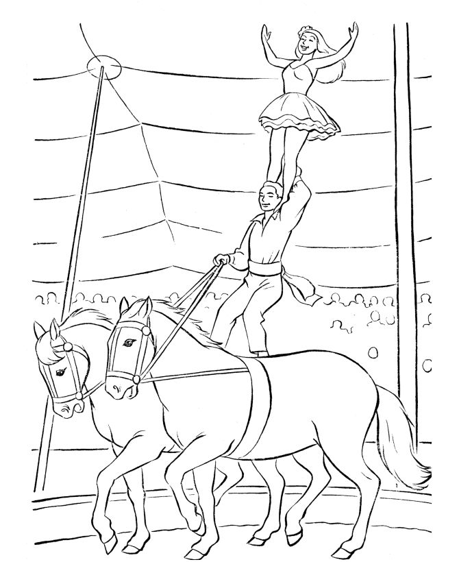 circus scene coloring pages - photo #8