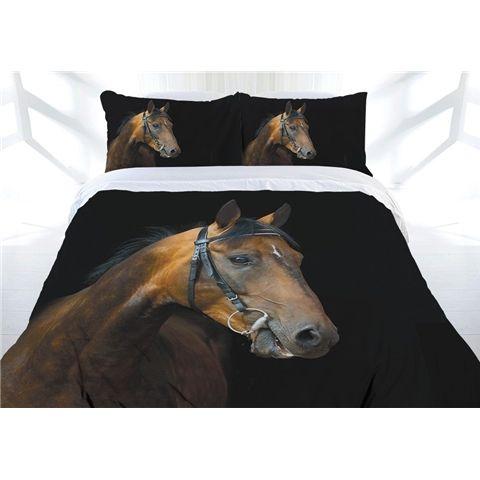 Horse Dark Rider Single, Double or Queen Size Doona Quilt cover Set.  Available at Kids Mega Mart online Shop Australia www.kidsmegamart.com.au