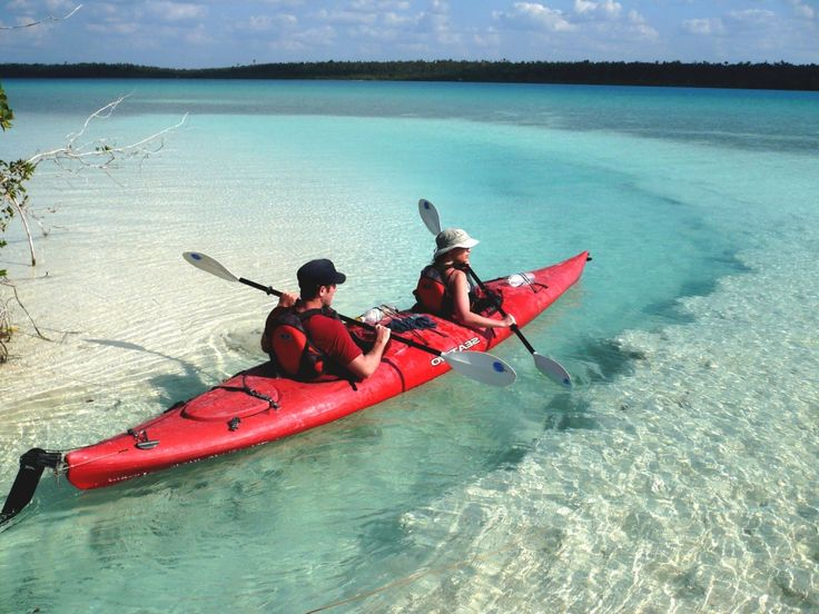 Lagoon of the seven colors is a paradise in Bacalar, Mexico.