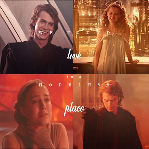 all I want is your love Anakin and Padme, Revenge of the Sith