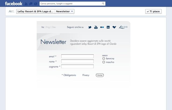 """La #tab """" #newsletter"""" realizzata per @Lefay Resorts #SPA sul #LagodiGarda"""
