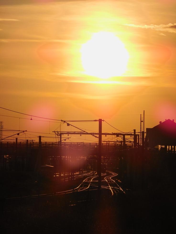 Sunset over Ny ellebjerg St.