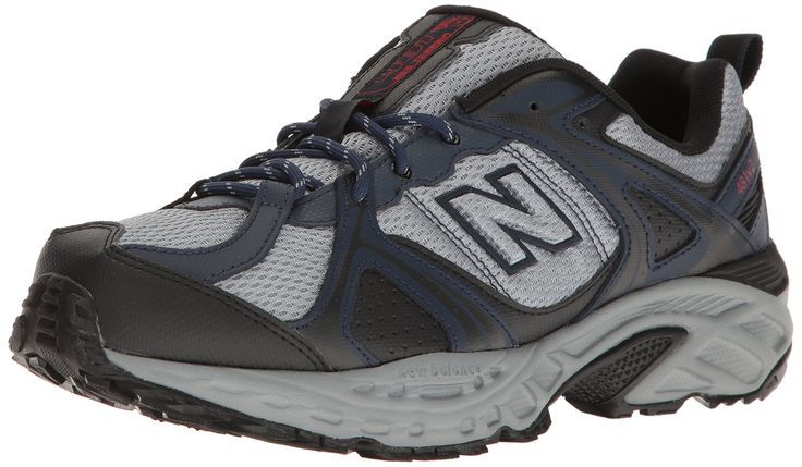 New Balance Men's 481V2 Shoe Trail Runner, Navy/Silver, 9.5 2E US