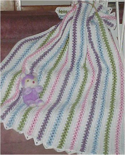 Popcorn Pastels Throw Free Crochet Pattern
