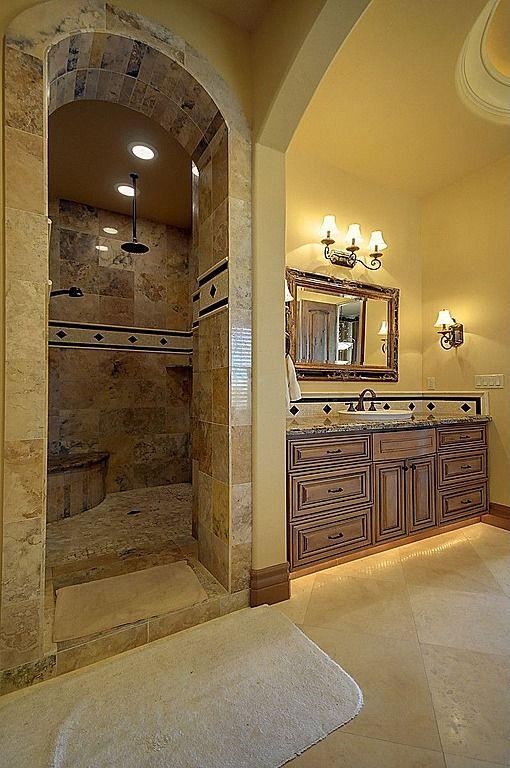 Mediterranean Master Bathroom - Found on Zillow Digs