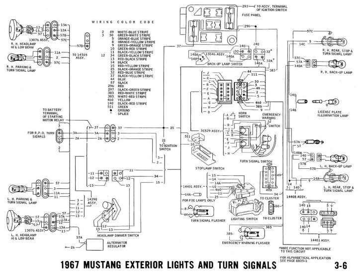 1965 Mustang Color Wiring Diagram 1967 Mustang Mustang 67 Mustang