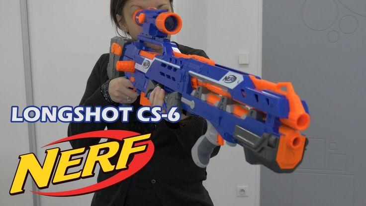 Nerf Elite LongShot CS-6 - Démo du blaster en français