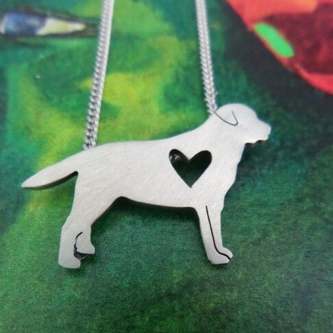Sterling silver Labrador Necklace by lil Rose Jewellery.
