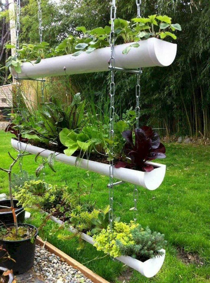 Rain Gutter Garden In 2020 Vertical Garden Design Herb Garden Design Vertical Garden