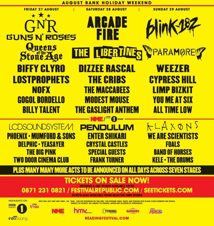 Reading Festival 2010, UK