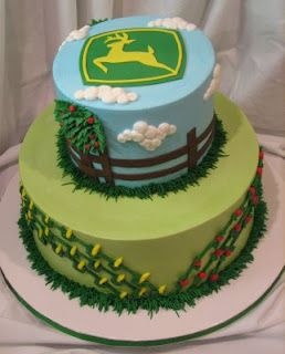John Deere themed birthday cake: Birthdays, Cake Ideas, John Deere Cakes, Party Ideas, Cake Decorating, Birthday Cakes, Birthday Ideas