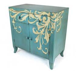 Painted dresser... beautiful how it wraps to the side.