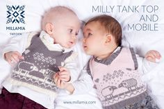 Milly Tank Top and Mobile in MillaMia Naturally Soft Merino KNITTING - 3 mos. to 60 mos. - mobile is sheep - FREE PATTERN