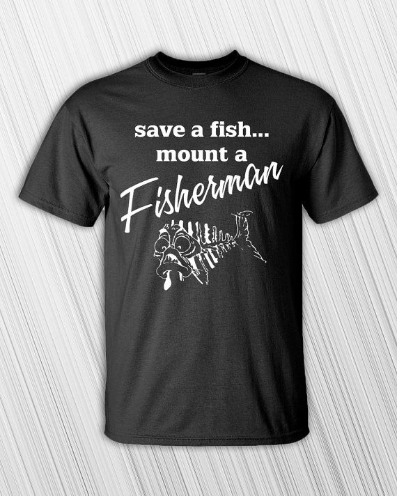 Save A Fish Mount A Fisherman Men's T-shirt - Clothing - Tee Shirt - Funny - Fishing - Gift For Fisherman - Funny Gift - Fishing Shirt