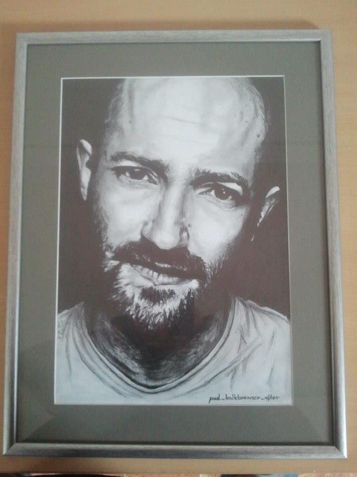 Paul Kalkbrenner pencil portrait
