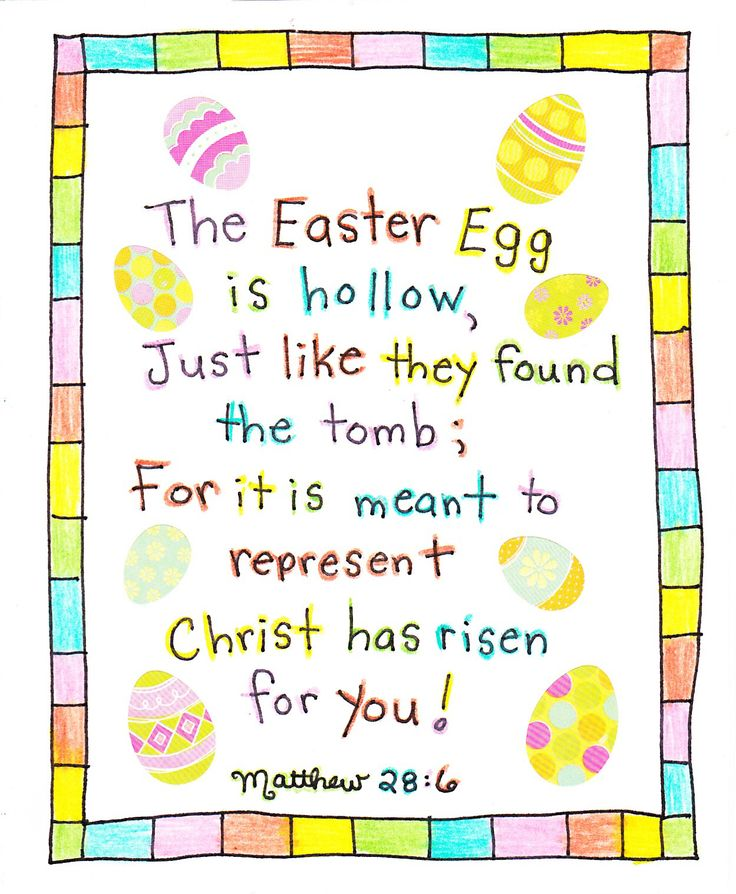 Print and place the 'empty egg poem' in your child's Easter Basket for a great story about how Easter is truly about the Risen Christ~