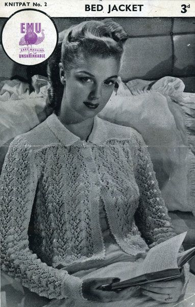 Enchanting Knitting Patterns For Bed Jackets Images Easy Scarf