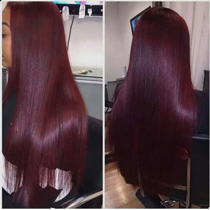 Brazilian Straight Ombre Hair 3 Bundles With Lace Closure Two Tone 1B/99 Colored Burgundy Lace Closure With Human Hair Weave Extensions