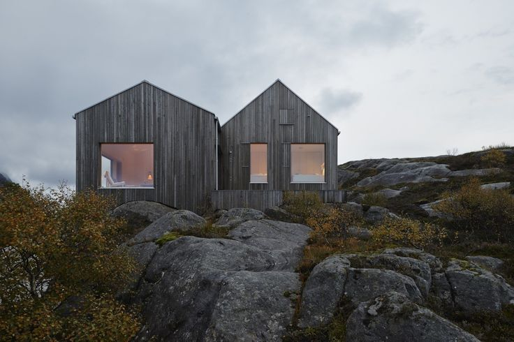 Inspired by Norway's traditional boathouses, Swedish architect Erik Kolman Janouch plants a cottage into Vega Island's barren landscape—its design so minimal, it becomes dramatic.