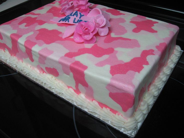 camouflage cake pattern | Pink BC camo outside. Inside is a pink camo pattern to the cake too ...