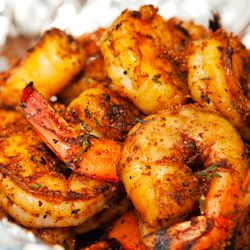 Sweet, salty, and spicy-- the rub will keep up to 6 months in your freezer, but the shrimp will be gone in an instant!