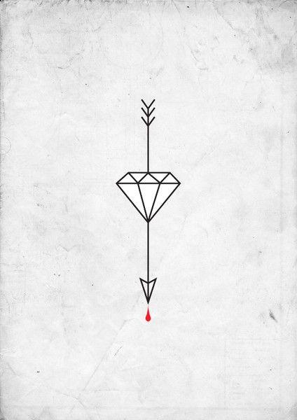 """Una flecha sólo se puede disparar tirando de él hacia atrás. Así que cuando la vida se arrastra de vuelta con dificultades, que significa que te va a lanzar en algo grande. Así que el enfoque y mantener el objetivo. La palabra """"diamante"""" es de origen griego y simboliza """"invencible"""". Estos significado se asocia con el diamante porque es un metal alcalino indestructibles. No importa lo que hagas a un diamante, no puede ser destruido."""
