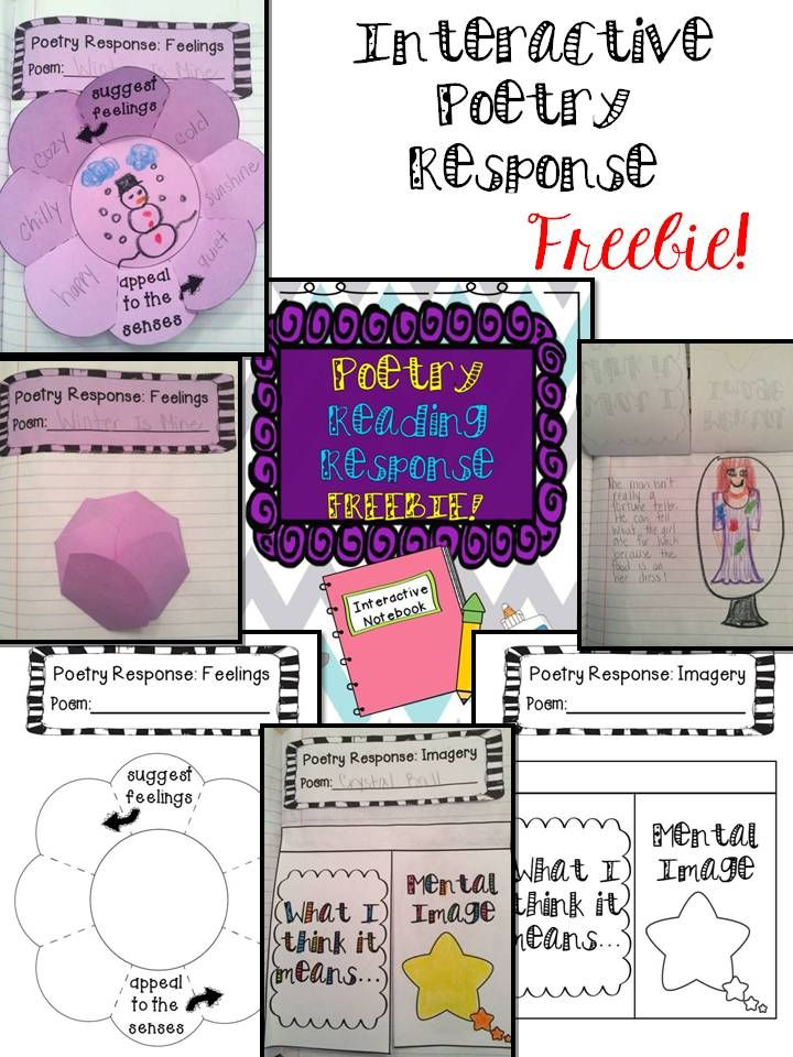 Interactive Poetry Response FREEBIE!  CCSS aligned for 1st and 2nd grade!