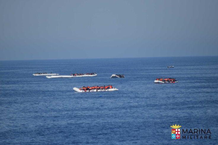 MARINA MILITARE - SAR 05/07 - Soccorsi oltre 900 Migranti dalle navi del...