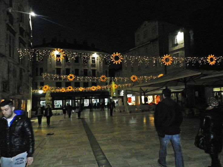 The main square decorated