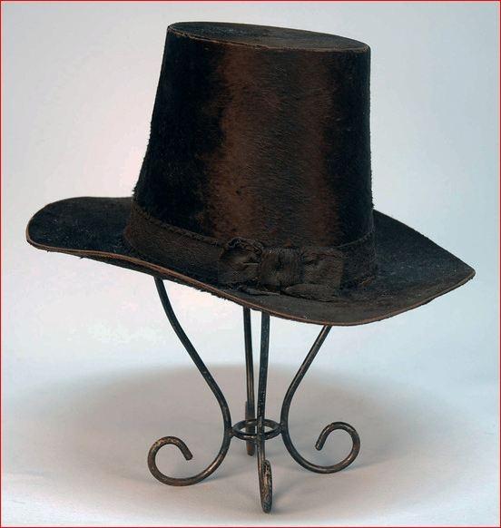 Gent's Brown Beaver Top Hat, 1830s