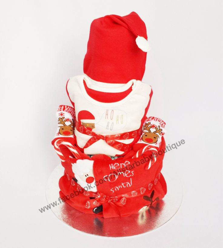 3 tier First Christmas nappy cake £40