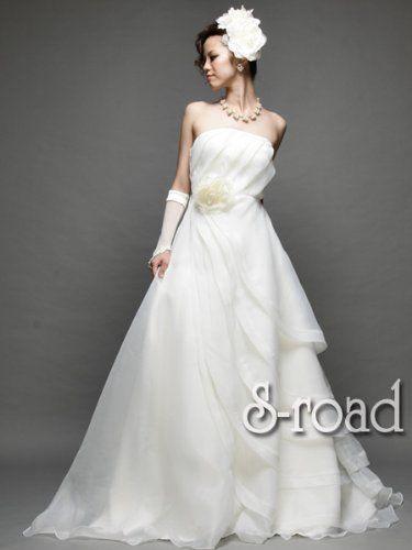 Amazon.co.jp: ウェディング 二次会 ドレス ホワイトシャーベットカラー シンプルな大人スタイルAラインウエディングドレス: 服&ファッション小物