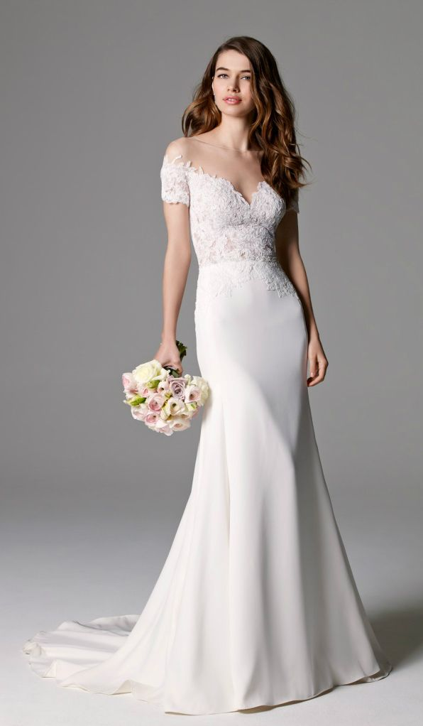 The 132 best non strapless wedding dresses images on pinterest watters wedding dresses for fall 2015 junglespirit Choice Image