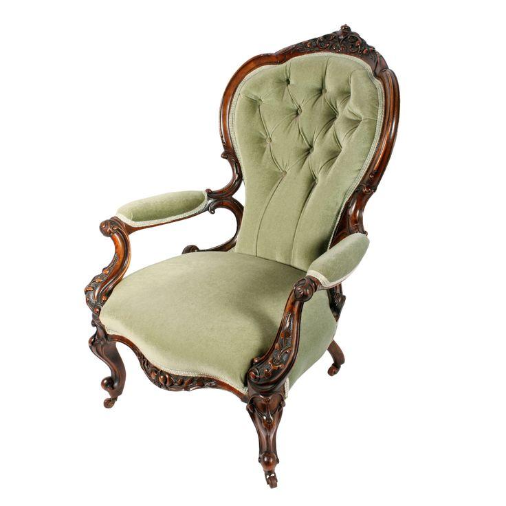 Victorian Walnut Gent's Arm Chair