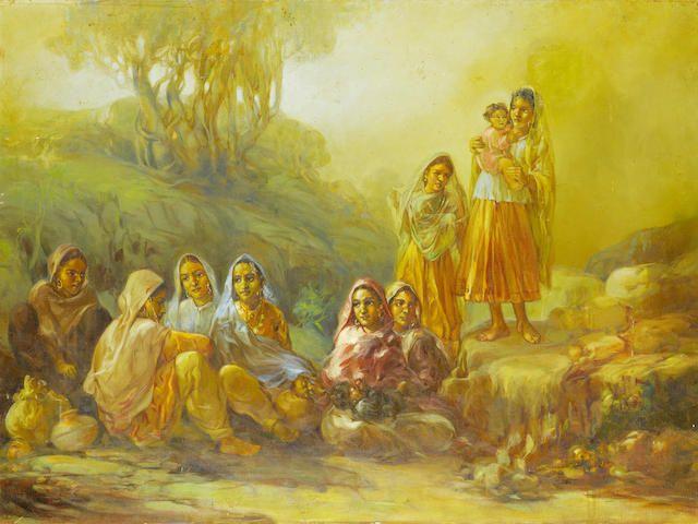 (n/a) Ustad Allah Bux (Pakistan, 1895-1978) Sahelian (Girl Friends),