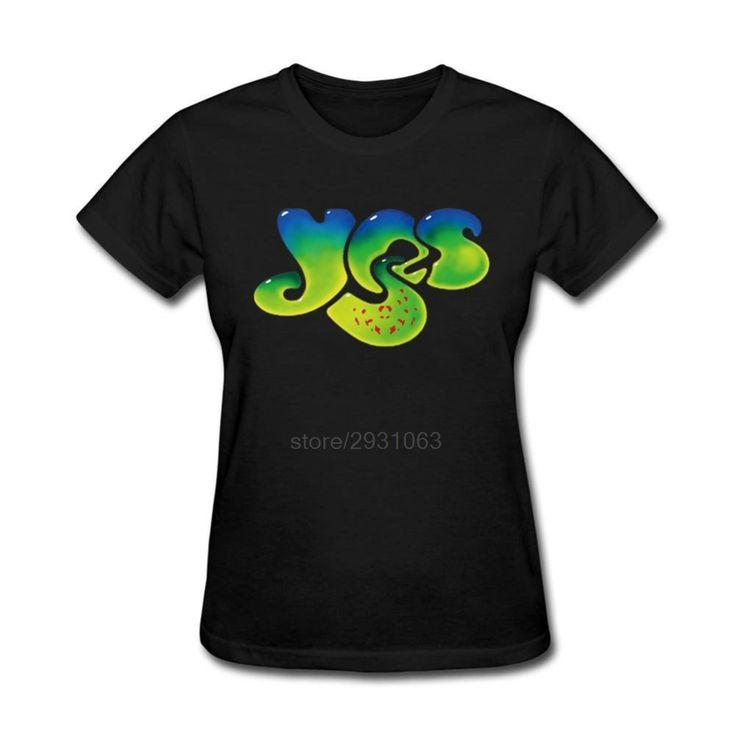 Cheap t shirt women, Buy Quality band tee shirts directly from China tee shirt Suppliers: Short Sleeve T Shirts Women's 100% Cotton Cartoon Women YES Rock Band Tee Shirt Designer Lady Funny Casual T Shirts 3XL