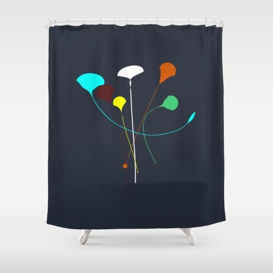 Buy Shower Curtains featuring Flowers Arrangement  by Mindssgreen. Made from 100% easy care polyester our designer shower curtains are printed in the USA and feature a 12 button-hole top for simple hanging.
