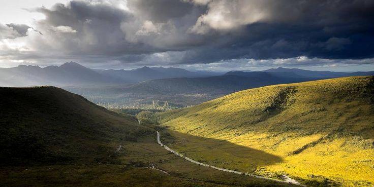 The road to Lake Pedder