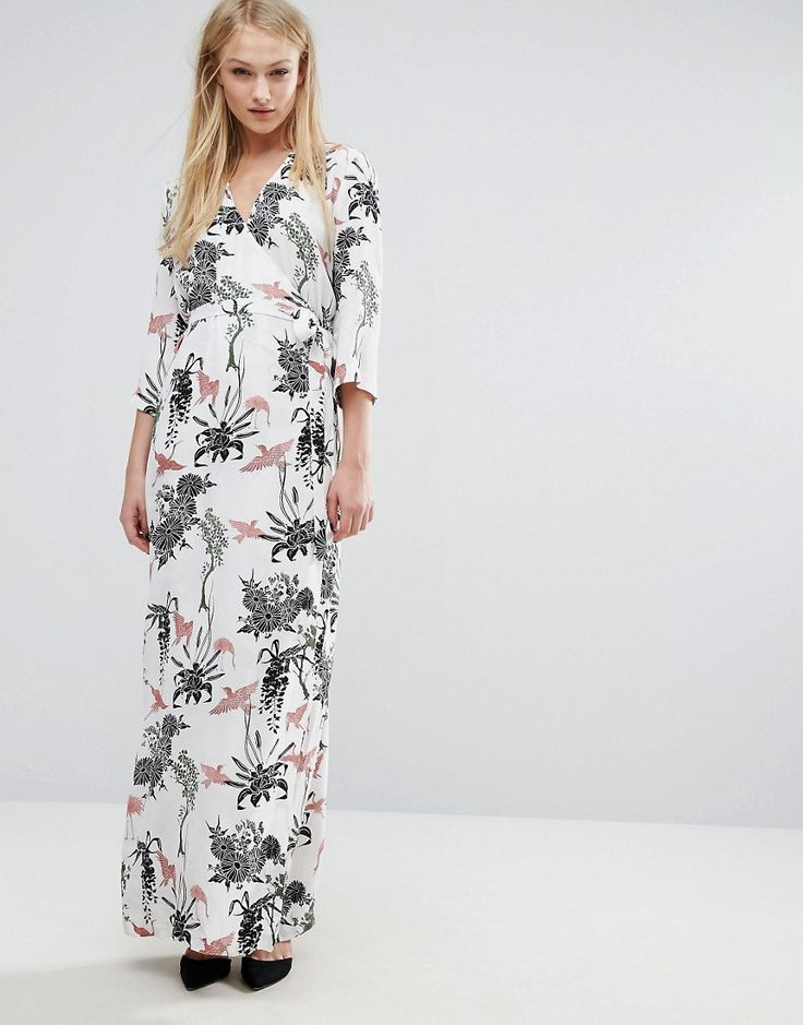 ASOS | Vila Wrap Floral Maxi Dress